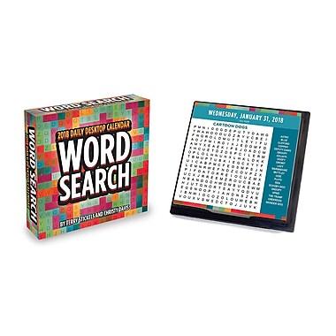 Tf Publishing 2018 Word Search Daily Desktop Calendar 5.5