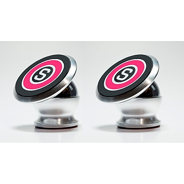 Stickit™ 360-degree Rotating Magnetic Mobile Technology Holder, Pink, 2/Pack (206SIL)