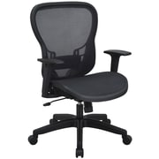 Space Seating R2 SpaceGrid Back and Seat Chair, Black (529-77N11)
