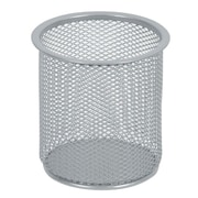 Staples® Metal Mesh Pencil Cup, Silver