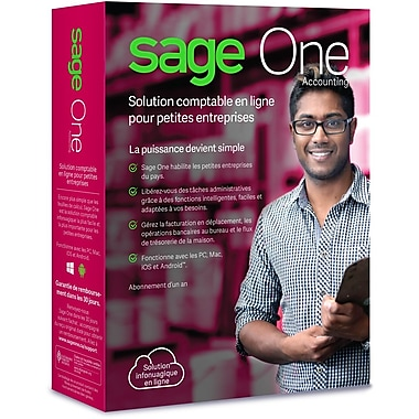 Sage One Accounting, Bilingual, 12 Month Subscription