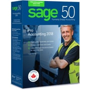 Sage 50 Pro Accounting 2018, Bilingual, 1 User License