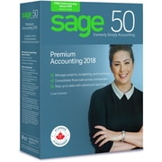 Sage 50 Premium Accounting 2018, Bilingual, 2 User License