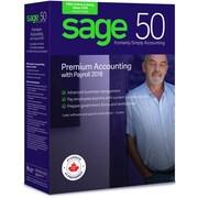 Sage – Logiciel Sage 50 Comptabilité Supérieur avec système de paye 2018, bilingue, 2 licences d'utilisateur, abonnement de 1 an