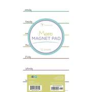 "Tf Publishing Nondated Rainbow Memo Magnet Pad 4"" x 8"""