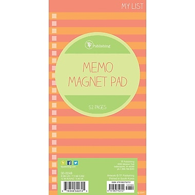 Tf Publishing Nondated Stripes Memo Magnet Pad 4
