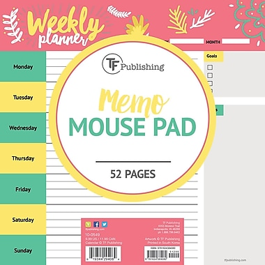 Tf Publishing Nondated Plan Me Memo Mouse Pad 7.75
