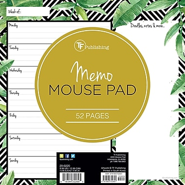 Tf Publishing Nondated Jungle Memo Mouse Pad 7.75