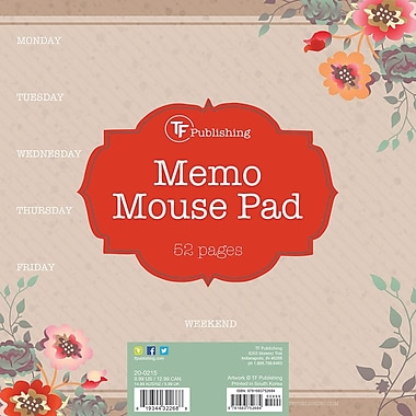 Tf Publishing Nondated Kraft Garden Memo Mouse Pad 7.75