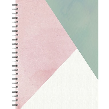 Tf Publishing Blush Diagonal Lined Spiral Journal 7