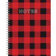 """Tf Publishing Buffalo Plaid Lined Spiral Journal 7"""" x 9"""""""
