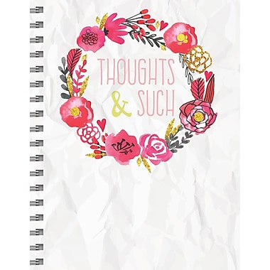 Tf Publishing Thoughts Lined Spiral Journal 7