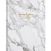 """Tf Publishing 2018 Marble Large Weekly Monthly Planner 9"""" x 11"""""""