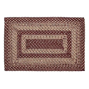 August Grove Chugwater Burgundy / Tan Area Rug; Rectangle 2' x 3'