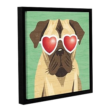 Latitude Run 'Beach Bums Pug I' Framed Graphic Art Print on Canvas; 36'' H x 36'' W x 2'' D