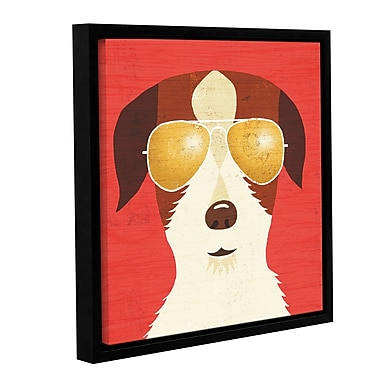 Latitude Run 'Beach Bums Terrier I' Framed Graphic Art Print on Canvas; 18'' H x 18'' W x 2'' D
