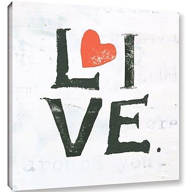 Latitude Run 'Live' Textual Art on Canvas; 10'' H x 10'' W x 2'' D