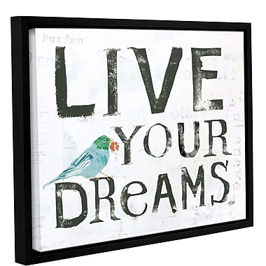 Latitude Run 'Live Your Dreams' Framed Textual Art on Canvas; 18'' H x 24'' W x 2'' D