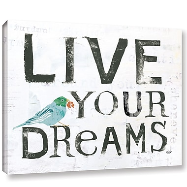 Latitude Run 'Live Your Dreams' Textual Art on Canvas; 24'' H x 32'' W x 2'' D