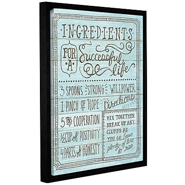 Latitude Run 'Ingredients for Life I' Framed Textual Art on Wrapped Canvas in Blue