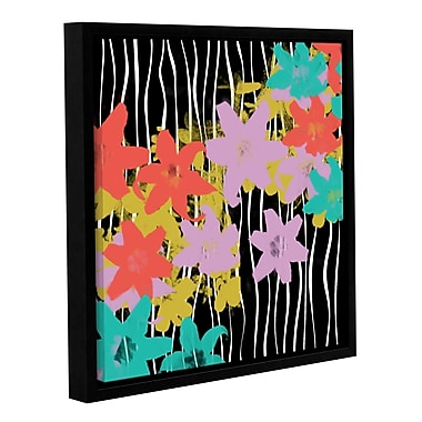 Latitude Run 'Blossoming Garden IV' Framed Painting Print on Wrapped Canvas; 14'' H x 14'' W x 2'' D