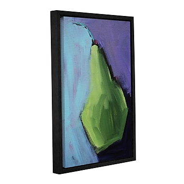 Latitude Run 'Modern Pear' Framed Painting Print on Wrapped Canvas; 18'' H x 12'' W x 2'' D
