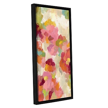 Ebern Designs 'Coral and Emerald Garden I Panel II' Framed Painting Print; 48'' H x 16'' W x 2'' D