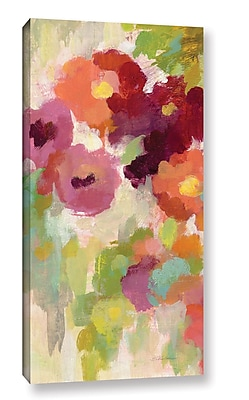 Ebern Designs 'Coral and Emerald Garden I Panel I' Painting Print on Wrapped Canvas