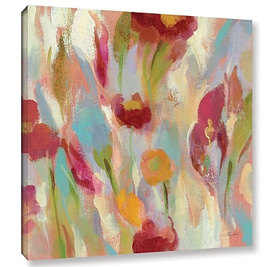 Ebern Designs 'Breezy Floral III' Painting Print on Wrapped Canvas; 10'' H x 10'' W x 2'' D