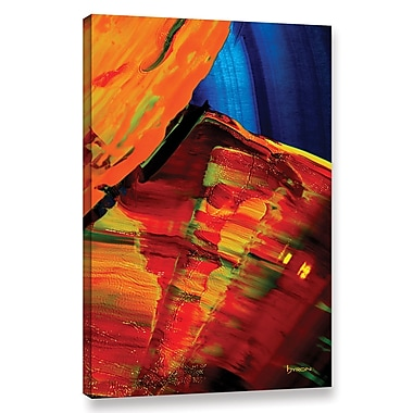 Ebern Designs 'Going w/ The Flow' Painting Print on Wrapped Canvas; 36'' H x 24'' W