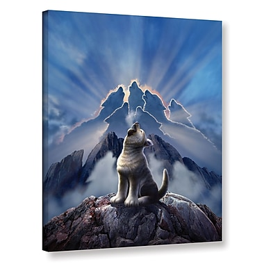 Ebern Designs 'Leader of The Pack' Graphic Art on Wrapped Canvas; 24'' H x 18'' W x 2'' D
