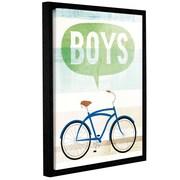 Ebern Designs 'Beach Cruiser Boys II' Framed Graphic Art Print on Canvas; 48'' H x 36'' W x 2'' D