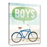 Ebern Designs 'Beach Cruiser Boys II' Graphic Art Print on Canvas; 24'' H x 18'' W x 2'' D