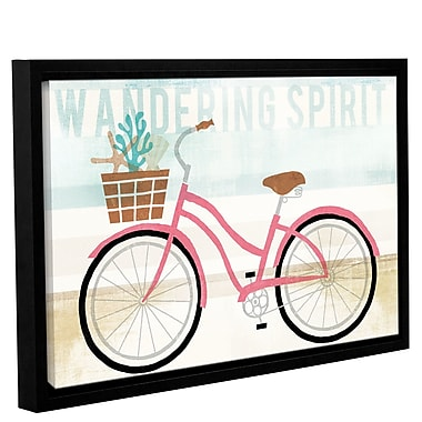 Ebern Designs 'Beach Cruiser Girls I' Framed Graphic Art Print on Canvas; 16'' H x 24'' W x 2'' D