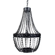 Harriet Bee Senoia Beaded 1-Light Mini Pendant; Black Onyx