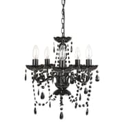 Harriet Bee Senoia 5-Light Crystal Chandelier; Black Onyx