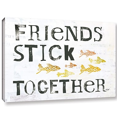 Highland Dunes 'Friends Stick Together' Textual Art on Canvas; 16'' H x 24'' W x 2'' D