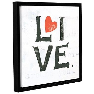 Latitude Run 'Live' Framed Print on Canvas; 36'' H x 36'' W x 2'' D