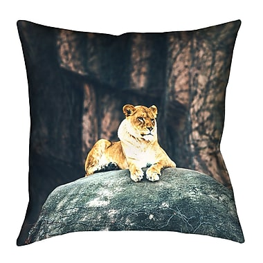 Bloomsbury Market Thatcher Lioness Indoor Pillow Cover; 14'' x 14''