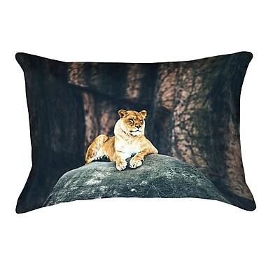 Bloomsbury Market Thatcher Lioness Indoor/Outdoor Lumbar Pillow