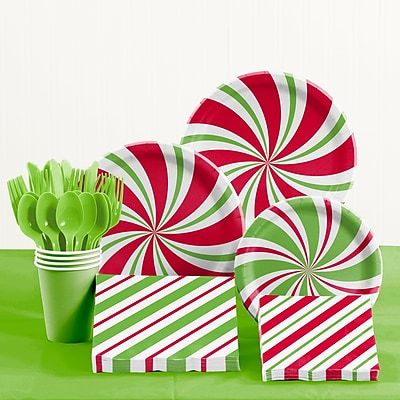 Creative Converting Peppermint Party Paper and Plastic Tableware Kit WYF078281902412