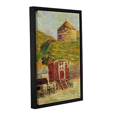 'Gypsies at Port-en-Bessin, 1883' by Paul Signac Framed Painting Print on Wrapped Canvas