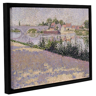 'Les Andleys, Port Morin, 1886' by Paul Signac Framed Painting Print on Wrapped Canvas