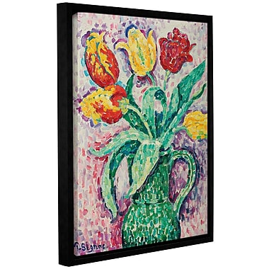 Red Barrel Studio 'The Vase, 1920' by Paul Signac Framed Painting Print on Wrapped Canvas