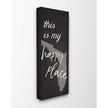 Varick Gallery 'This Is My Happy Place Florida' Textual Art on Canvas