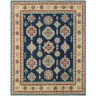 Bloomsbury Market Tomas Hashimel Hand-Knotted Wool Blue Area Rug