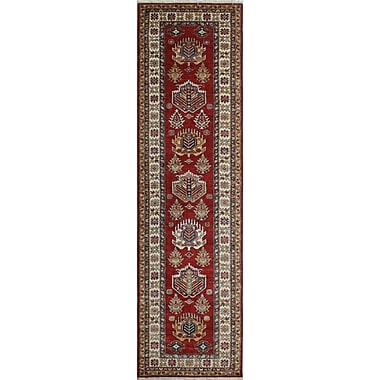 Bloomsbury Market Chanell Mujgan Hand-Knotted Wool Red Area Rug