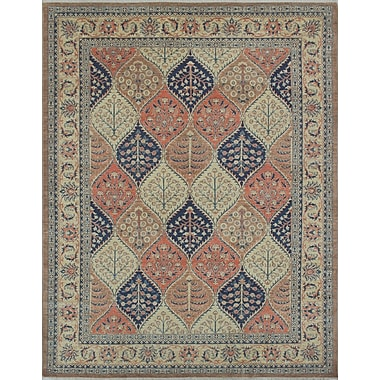 Bloomsbury Market Turner Zahar Hand-Knotted Wool Brown Area Rug
