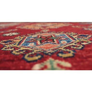 Bloomsbury Market Chanell Anisa Hand-Knotted Wool Red Area Rug