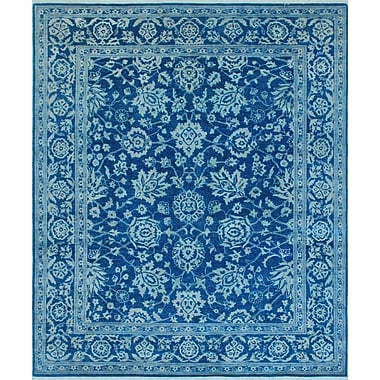 Bloomsbury Market Turner Nazir Hand-Knotted Wool/Silk Blue Area Rug